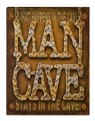 """Man Cave"" Metal Sign"