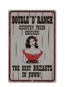 """Double D Ranch"" Metal Sign"