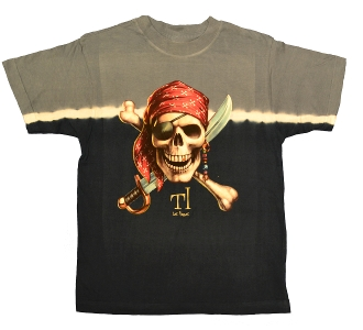 Navy Tie-Dyed Pirate Tee